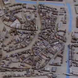 Binnenstad in verschillende houtsoorten