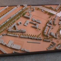 Werk maquette Bageineweide Zwolle bestaande situatie