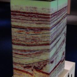 sijsmografische uitsnede tot 4,5 km diepte